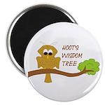 Hoot's Wisdom Tree Magnet