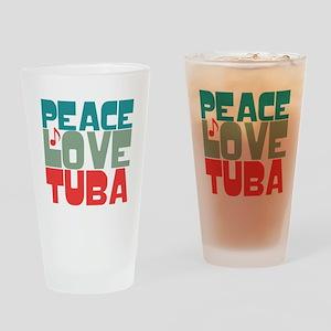 Peace Love Tuba Drinking Glass