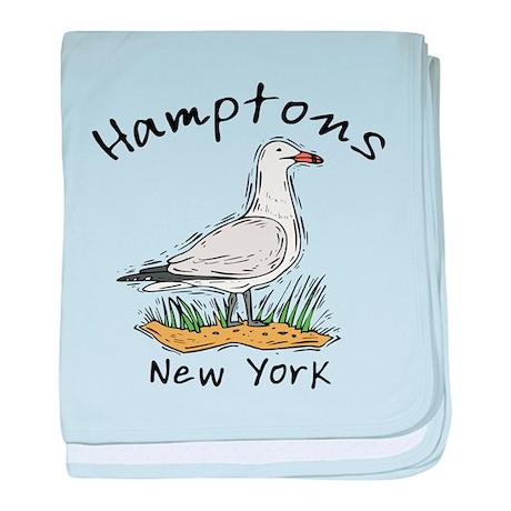 Hamptons NY Seagull baby blanket