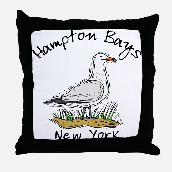 Hampton Bays NY Throw Pillow