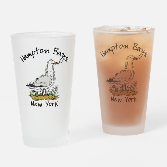 Hampton Bays NY Drinking Glass