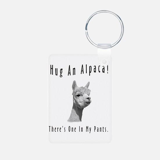"""Hug An Alpaca"" Keychains"