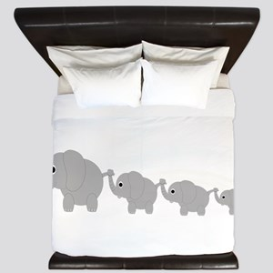 Elephants Design King Duvet