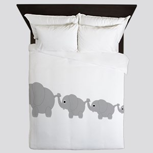 Elephants Design Queen Duvet