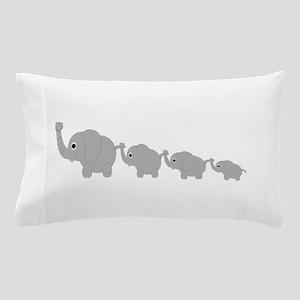 Elephants Design Pillow Case