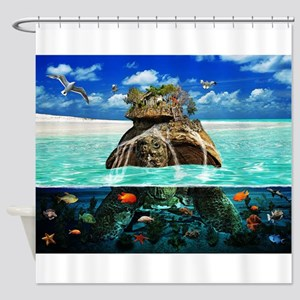 Turtle Island Fantasy Seclude Shower Curtain