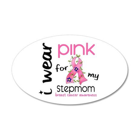 I Wear Pink 43 Breast Cancer 22x14 Oval Wall Peel