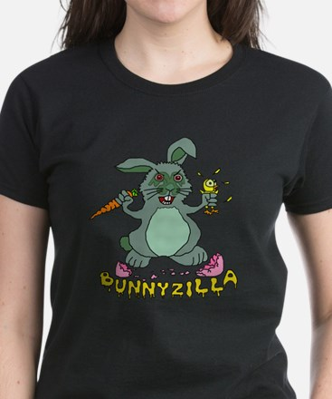 Bunnyzilla Easter Bunny Women's Dark T-Shirt