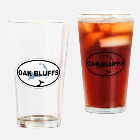 Oak Bluffs MA - Oval Design. Drinking Glass