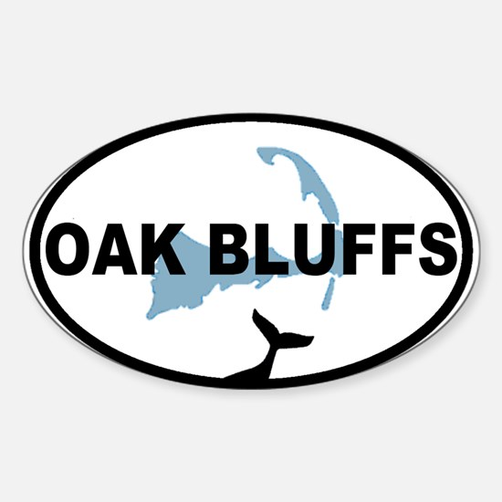Oak Bluffs MA - Oval Design. Sticker (Oval)