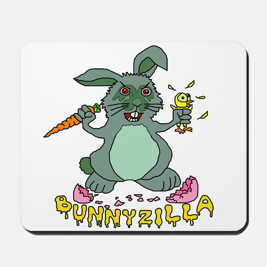 Bunnyzilla Easter Bunny Mousepad