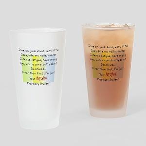 PharmD Student Drinking Glass