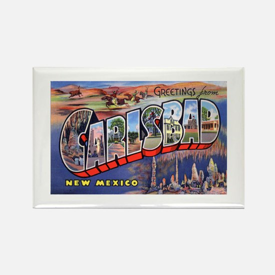 Carlsbad New Mexico Greetings Rectangle Magnet