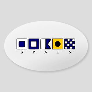 Nautical Spain Sticker (Oval)