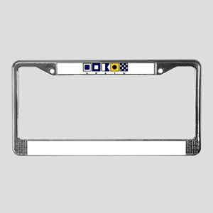 Nautical Spain License Plate Frame