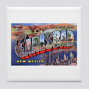 Carlsbad New Mexico Greetings Tile Coaster