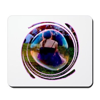 The Bubble Girl Mousepad