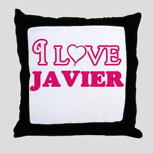 I Love Javier Throw Pillow