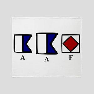 aAf Throw Blanket