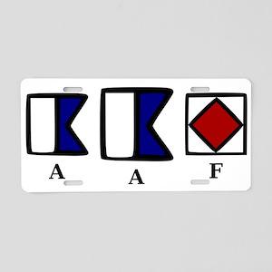 aAf Aluminum License Plate