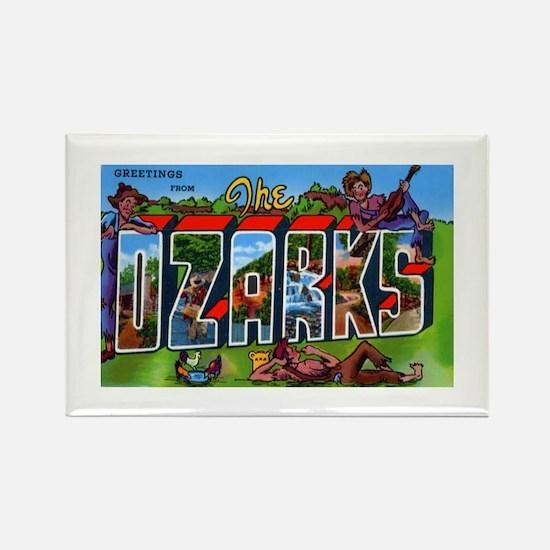 Ozarks Arkansas Greetings Rectangle Magnet