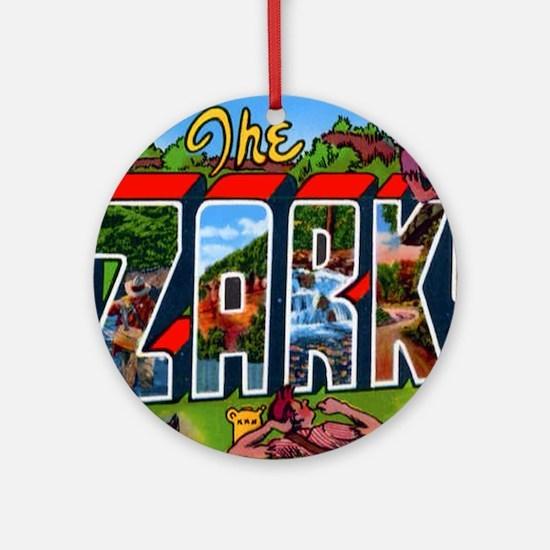 Ozarks Arkansas Greetings Ornament (Round)