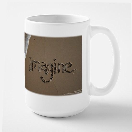 """Sand Script """"imagine"""" Mug"""