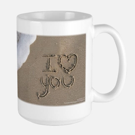 I Love You Sand Script Mug