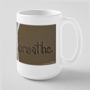breathe Sand Script Mug