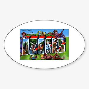 Ozarks Arkansas Greetings Oval Sticker