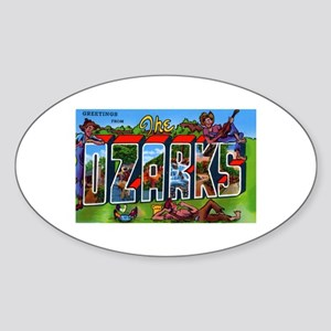 Ozarks Arkansas Greetings Oval Sticker