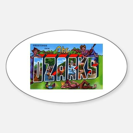 Ozarks Arkansas Greetings Oval Decal