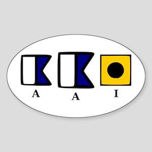 aAi Sticker (Oval)