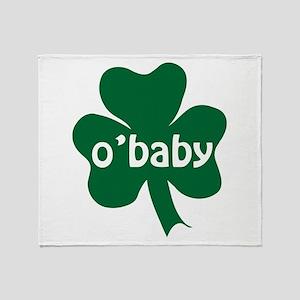 O'Baby Shamrock Throw Blanket