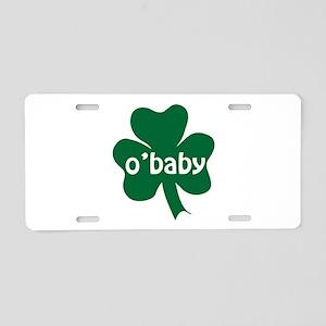 O'Baby Shamrock Aluminum License Plate