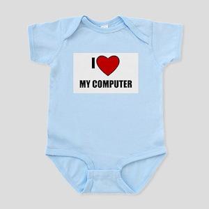 I LOVE MY COMPUTER Infant Creeper