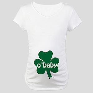 O'Baby Shamrock Maternity T-Shirt