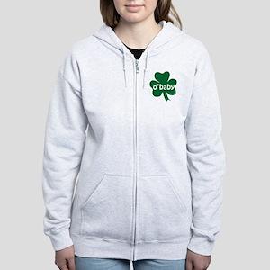 O'Baby Shamrock Women's Zip Hoodie