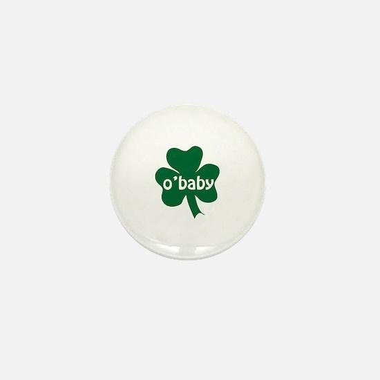 O'Baby Shamrock Mini Button