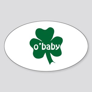 O'Baby Shamrock Sticker (Oval)