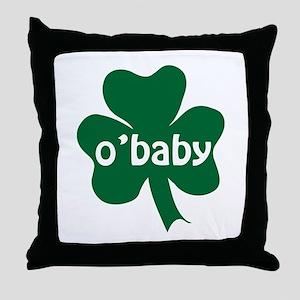O'Baby Shamrock Throw Pillow