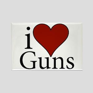 I Love Guns Rectangle Magnet