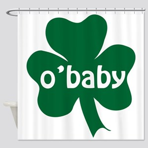 O'Baby Shamrock Shower Curtain