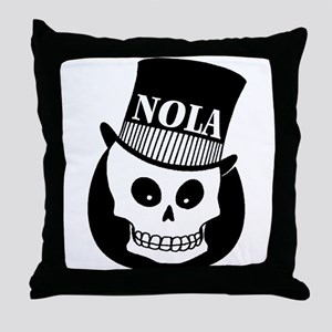 NOLa Sign Throw Pillow