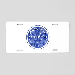 Where Ya At Water Meter Aluminum License Plate