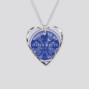 Where Ya At Water Meter Necklace Heart Charm