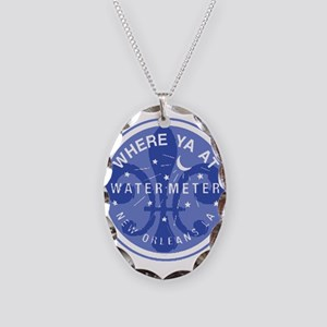 Where Ya At Water Meter Necklace Oval Charm