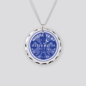 Where Ya At Water Meter Necklace Circle Charm