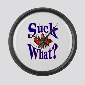 Suck What ? Crawfish Shirt Large Wall Clock