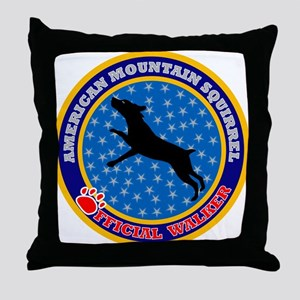 American Mountain Squirrel Throw Pillow
